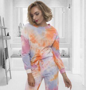 Women's Loungewear Sets Tie Dye Cotton Pajama